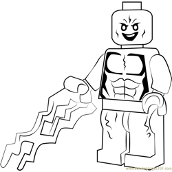 Lego Electro Free Coloring Page for Kids