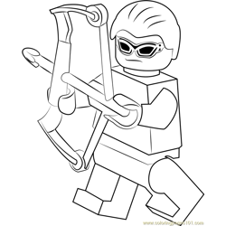 Lego Hawkeye Free Coloring Page for Kids