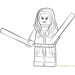 Lego Mockingbird Free Coloring Page for Kids
