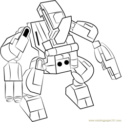 Lego Rhino Free Coloring Page for Kids