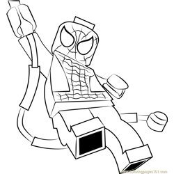 Lego Spider Man Free Coloring Page for Kids