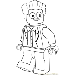 Lego Stan Lee coloring page