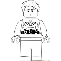 Lego Steve Rogers coloring page