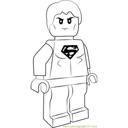 Lego Superboy coloring page