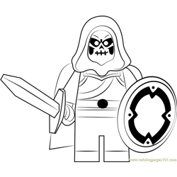 Lego Taskmaster coloring page