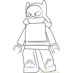 Lego The Fierce Flame Free Coloring Page for Kids