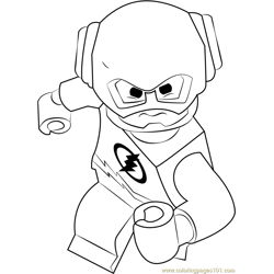 Lego The Flash Free Coloring Page for Kids