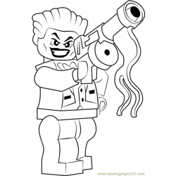 Lego The Joker Free Coloring Page for Kids