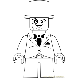 Lego The Penguin Free Coloring Page for Kids