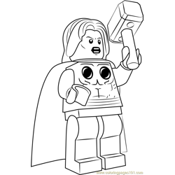 Lego Thor coloring page