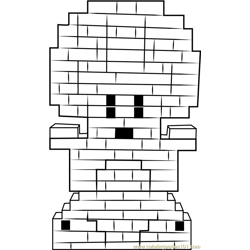 Lego Toad Free Coloring Page for Kids