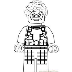 Lego Trickster Free Coloring Page for Kids