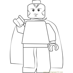 Lego Vision Free Coloring Page for Kids