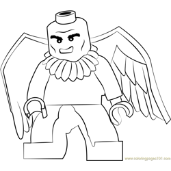 Lego Vulture Free Coloring Page for Kids