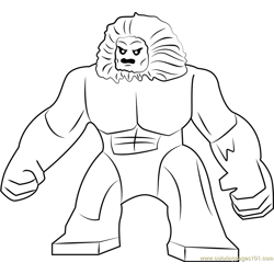 Lego Wendigo Free Coloring Page for Kids
