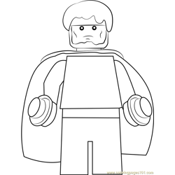 Lego Wiccan Free Coloring Page for Kids