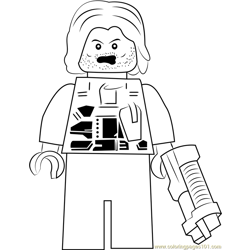 Lego Winter Soldier Free Coloring Page for Kids