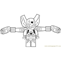 Lego Yellow Jacket coloring page