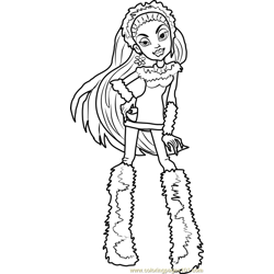 Abbey Bominable Free Coloring Page for Kids