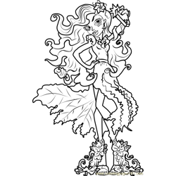 Amanita Nightshade Free Coloring Page for Kids