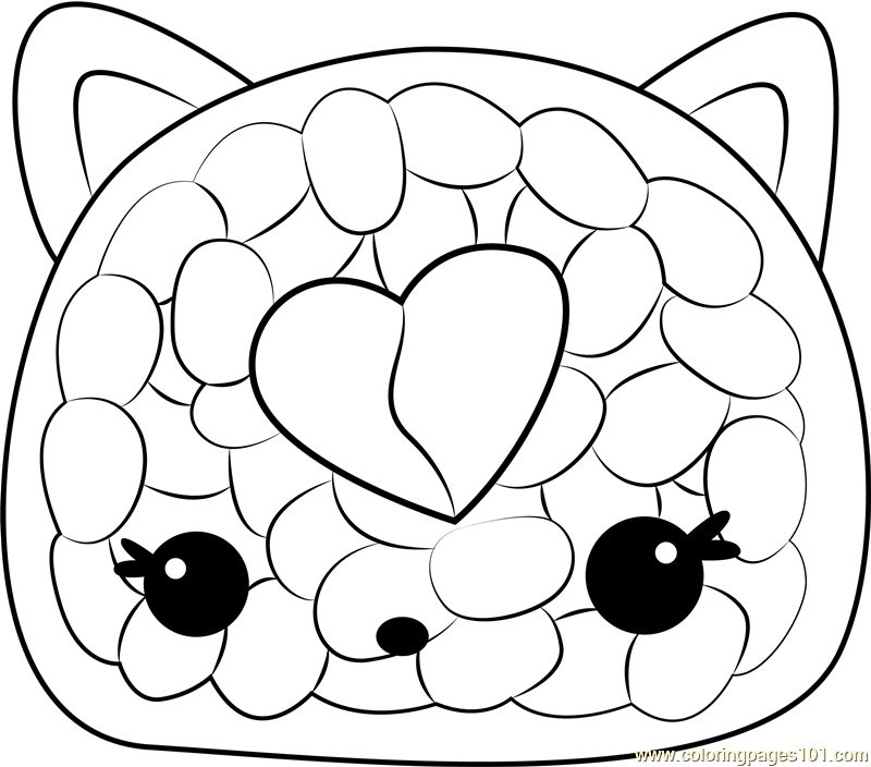 Cali Roll Coloring Page