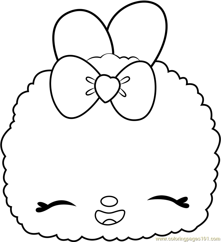 Candy Sparkle Snow Coloring Page