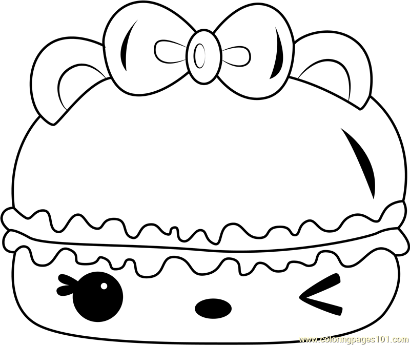 Cotton Candy Gloss-Up Coloring Page