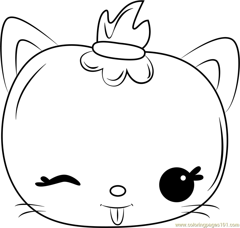 Cotton Jelly Coloring Page