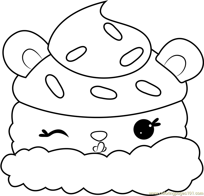 Lemony Cream Coloring Page
