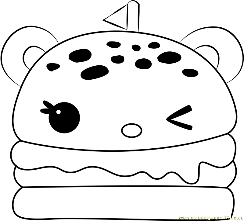 Melty Burger Coloring Page