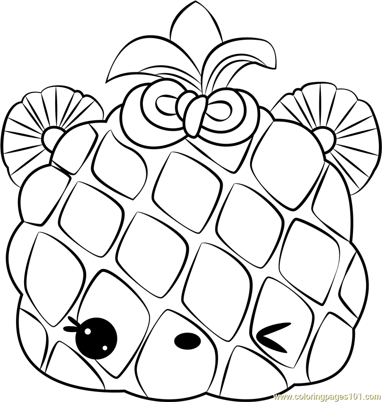 Piney Apple Coloring Page - Free Num Noms Coloring Pages ...