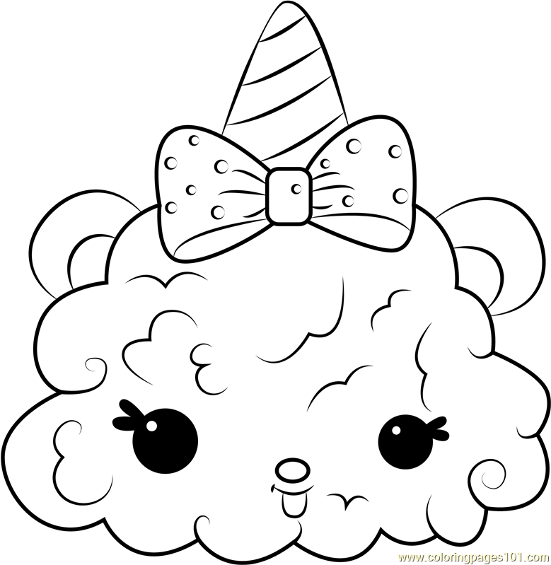 Pinky Puffs Coloring Page