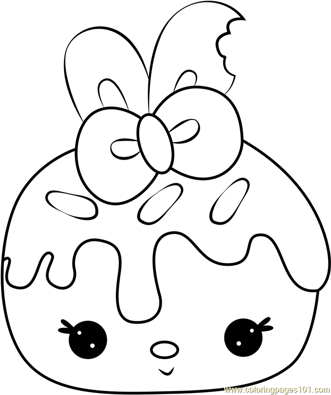 Raspberry Cream Coloring Page
