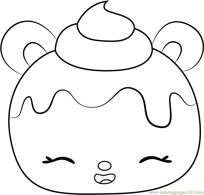 Red Velvety Coloring Page