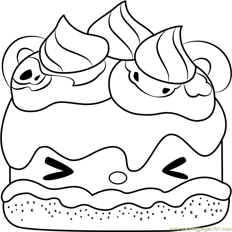 It is a picture of Tactueux S'mores Coloring Page
