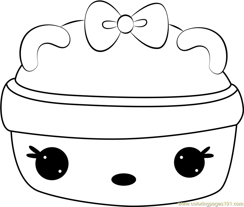 Straw Nana Gloss-Up Coloring Page
