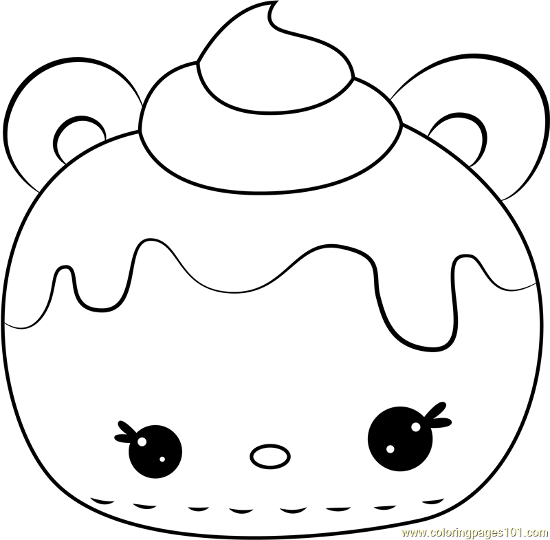 Strawberry Cream Coloring Page