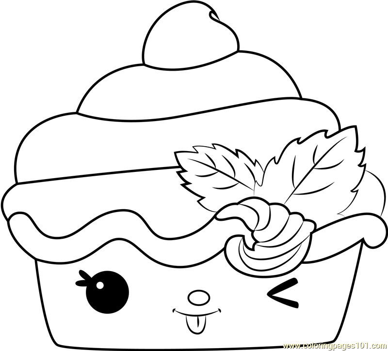 - Strawberry Froyo Coloring Page - Free Num Noms Coloring Pages :  ColoringPages101.com