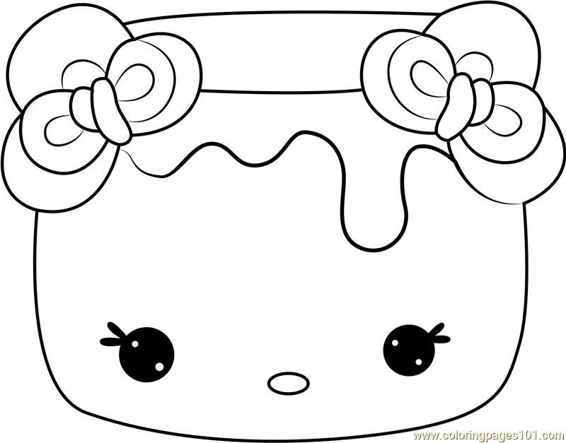 - Strawberry Mallow Coloring Page - Free Num Noms Coloring Pages :  ColoringPages101.com