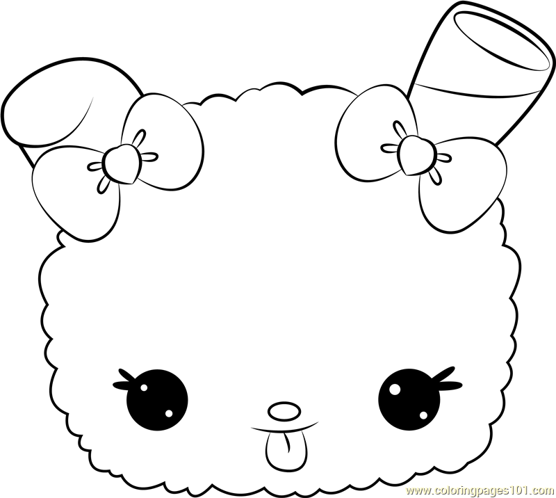 Strawberry Snow Coloring Page Free Num Noms Coloring
