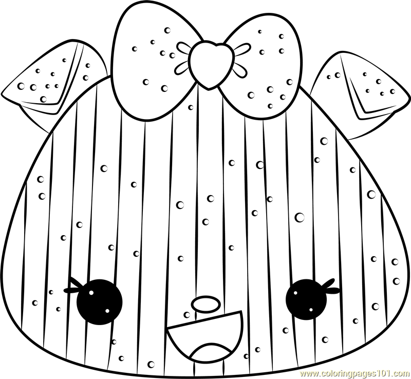 Suzy Stripes Coloring Page