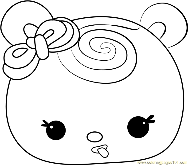Sweetie Strawberry Coloring Page