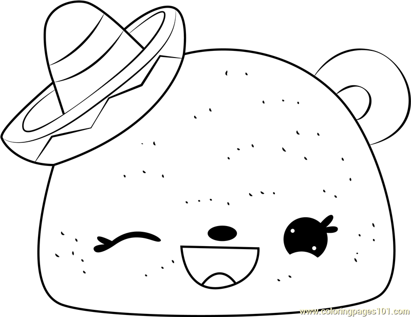 tasty taco coloring page
