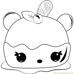 Annie Apple coloring page