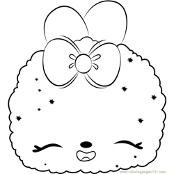 Apple Icy Free Coloring Page for Kids