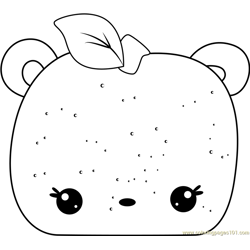 Ava Apple Free Coloring Page for Kids
