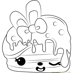 Berry Cakes coloring page