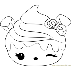 Berry Cheesecake Free Coloring Page for Kids