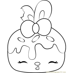 Bonnie Blueberry Free Coloring Page for Kids