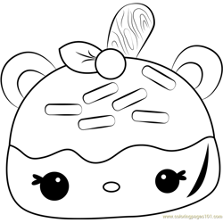 Cherry Jelly Go Go Coloring Page Free Num Noms Coloring Pages